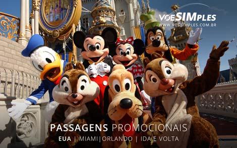 Passagens aéreas promocionais Orlando e Miami