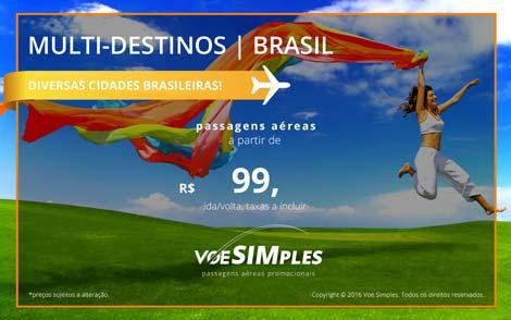 Passagens aéreas promocionais imperdíveis para o Brasil