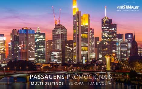 Passagem aérea promocional para Europa