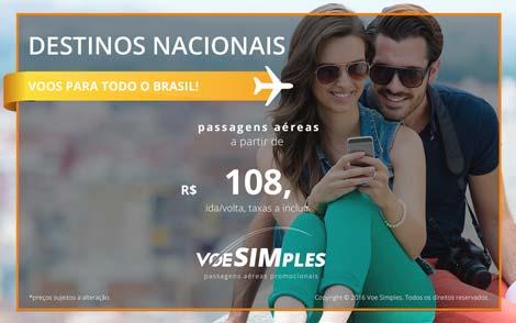 Passagens aéreas promocionais para o Brasil