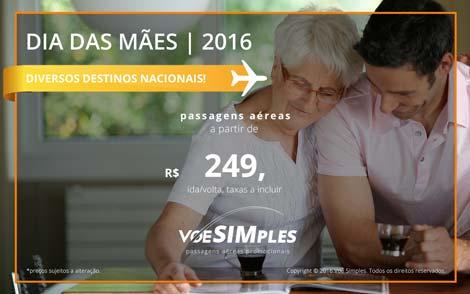 Passagem aérea promocional para o Dias das Mães 2016