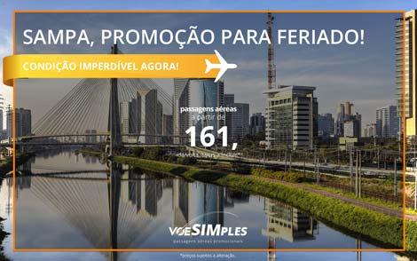Passagem promocional para São Paulo no Feriado de Corpus Christi