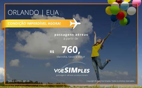 Passagem aérea promocional para Orlando saindo de São Paulo