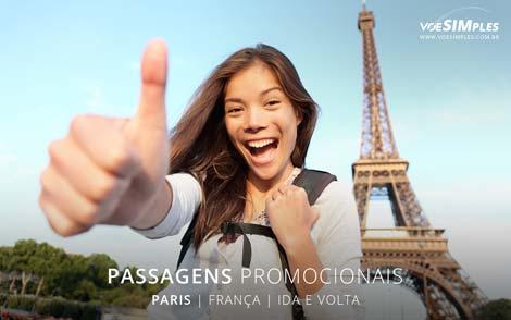 Passagem aérea promocional para Paris