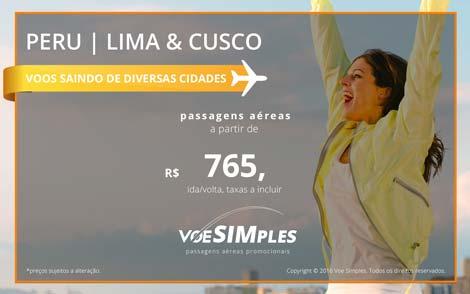 Passagem aérea promocional para Lima