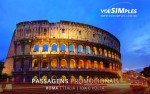 Passagem aérea para Roma