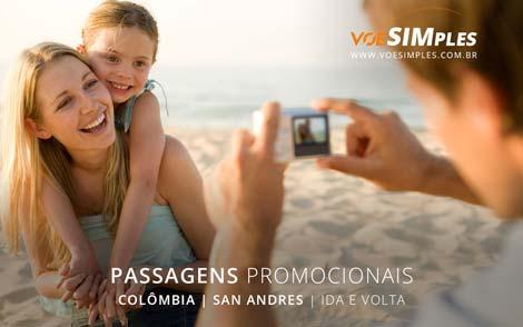 Passagem aérea promocional para a Colômbia