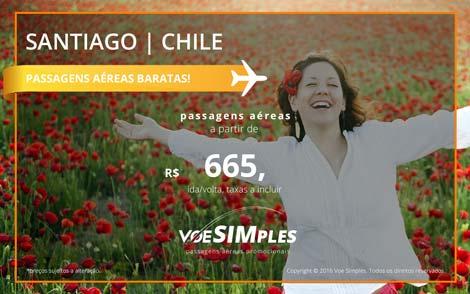 Promoção de passagens aéreas para Santiago no Chile