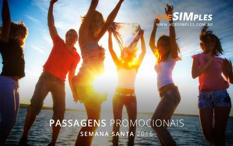 Passagens promocionais na Semana Santa