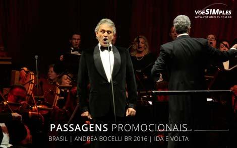 Passagem aérea promocional para Show Andrea Bocelli