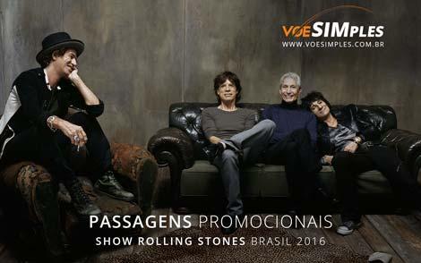 Passagem aérea promocional para o show do Rolling Stones no Brasil em 2016