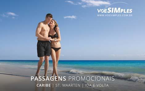 Passagem aérea promocional para o Caribe