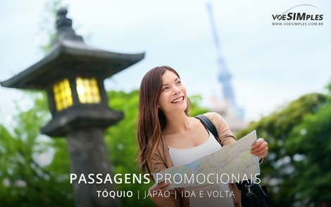 Passagem aérea promocional para Tóquio