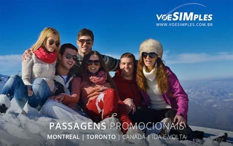 Passagem aérea promocional de São Paulo para o Canadá