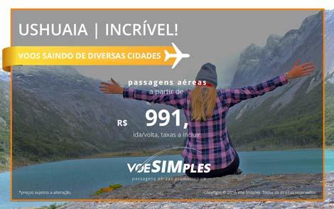 Passagem aérea promocional para Ushuaia