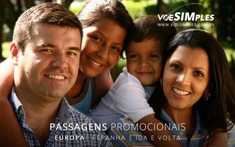 Passagem aérea promocional para Espanha