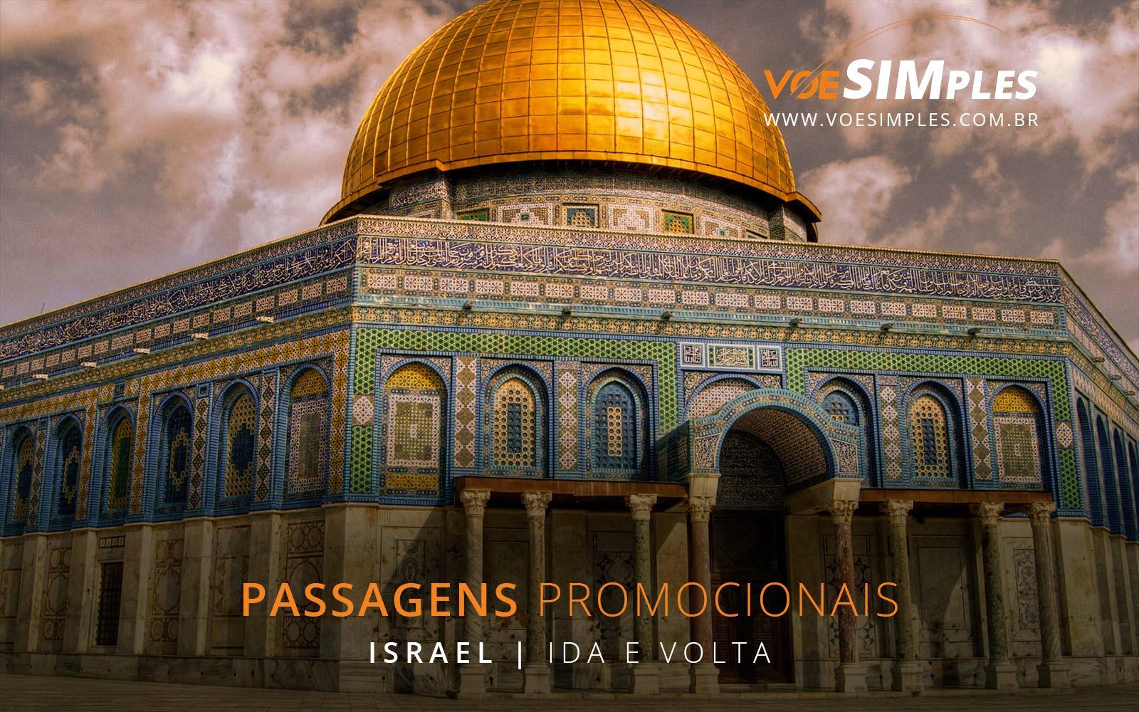 Passagens aéreas promocionais para Tel Aviv em Israel