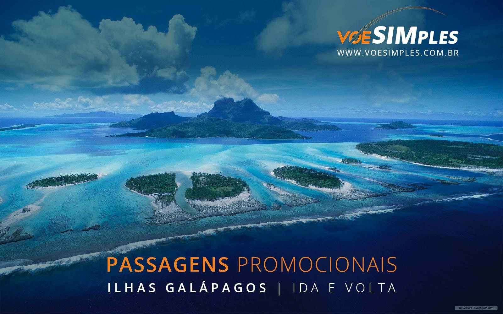Passagens aéreas promocionais para as Ilhas Galápagos