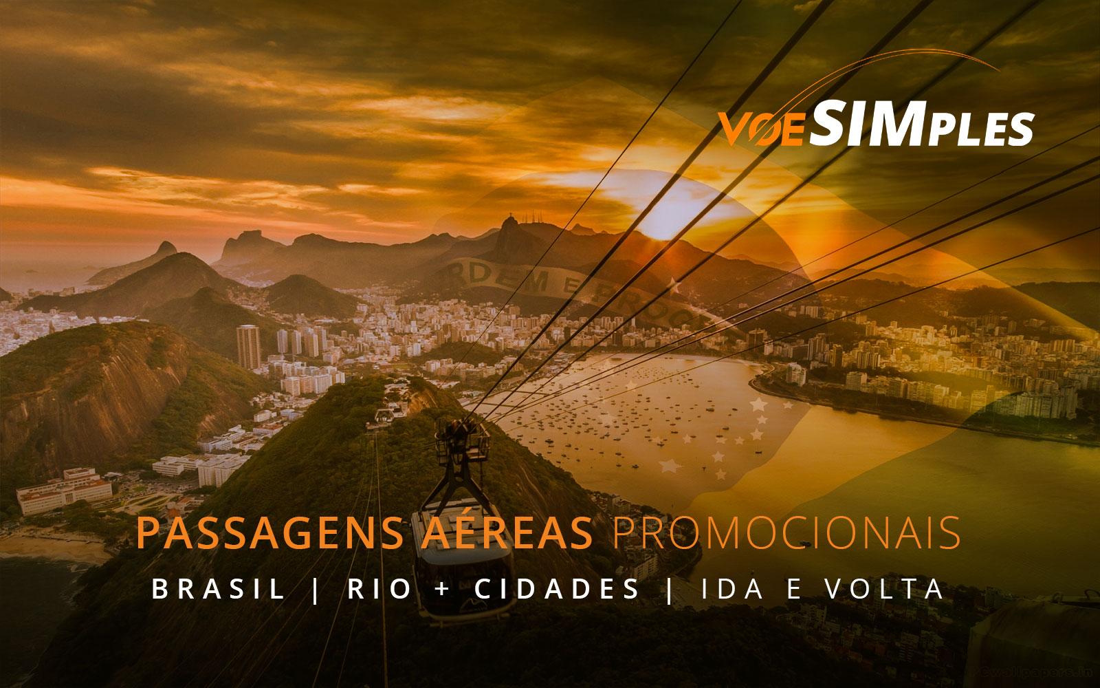 Passagens aéreas promocionais de avião no Brasil