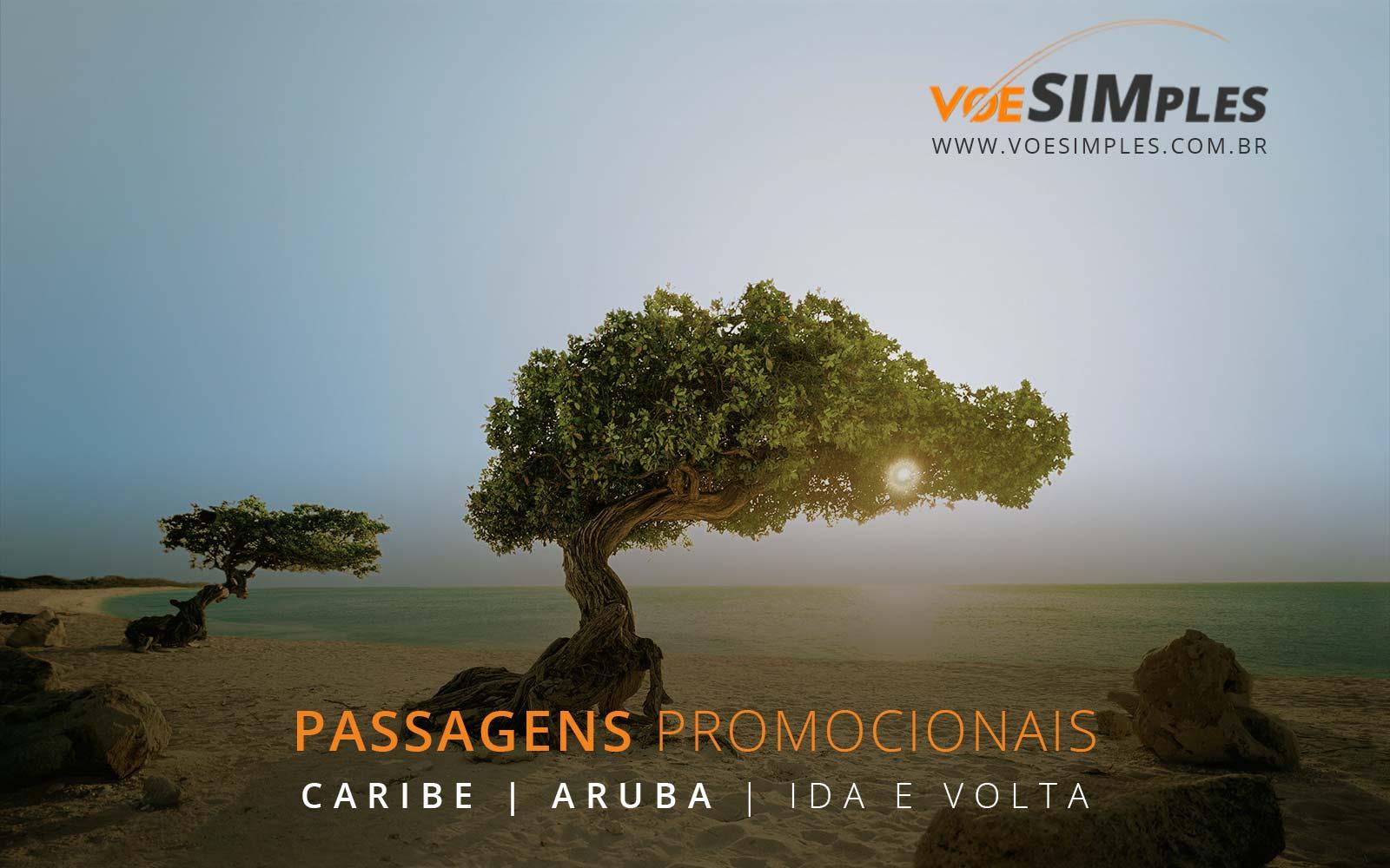 Promoção de passagens aéreas para Aruba no Caribe