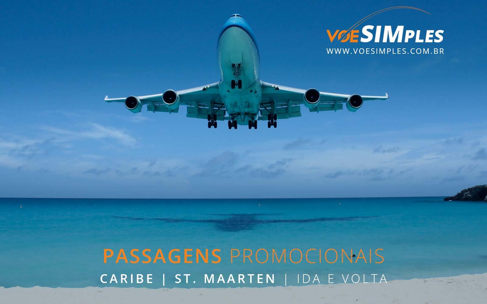 Promoção de passagens aéreas para St Maarten