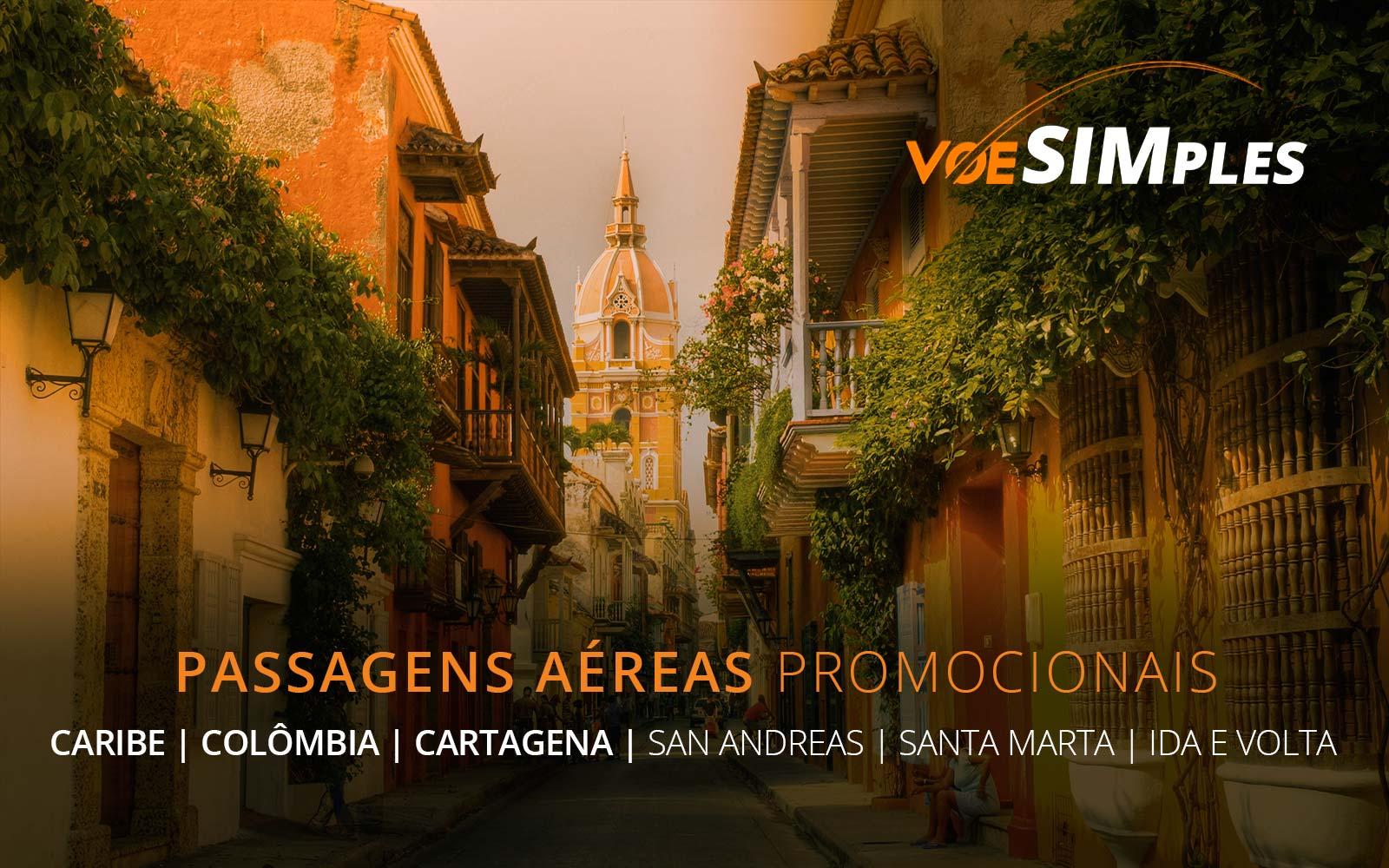 Passagens aéreas promocionais para Cartagena, San Andrés e Santa Marta no Caribe Colombiano