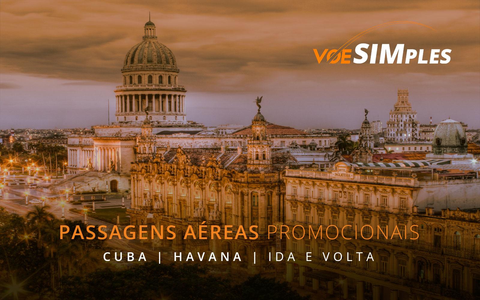 Passagens aéreas promocionais para Havana em Cuba
