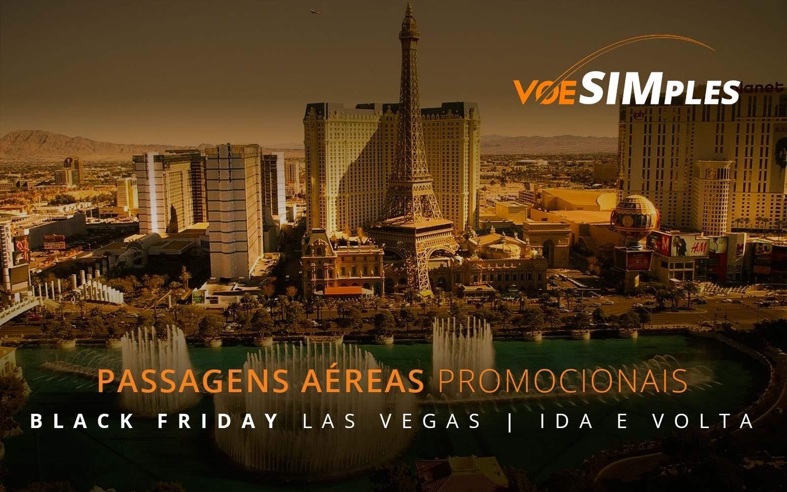 Passagens aéreas promocionais para a Black Friday em Las Vegas nos Estados Unidos