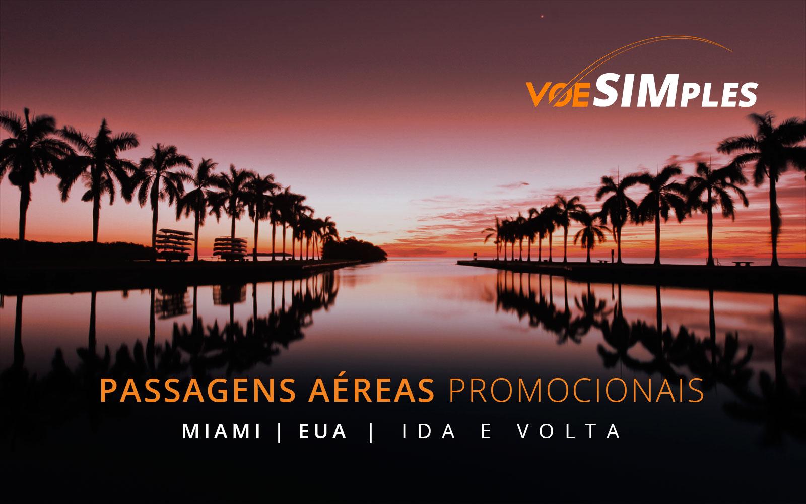 Passagens aéreas promocionais para o Natal em Miami nos Estados Unidos