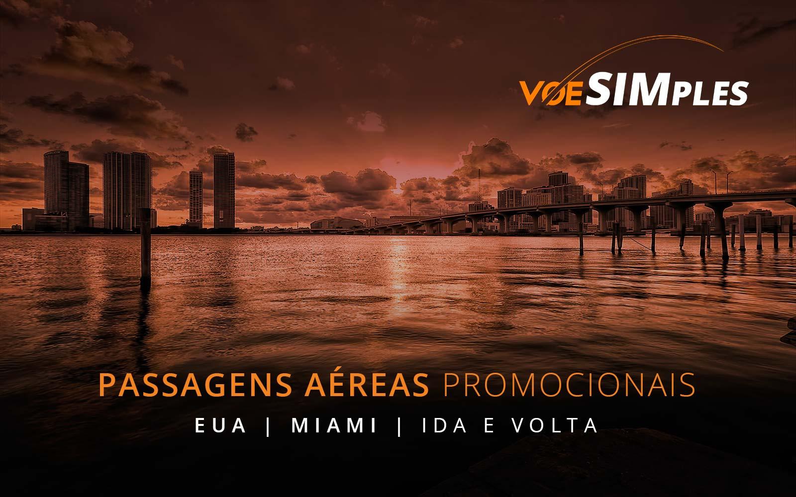 Passagens aéreas promocionais para Miami, Nova York, Orlando e Las Vegas nos Estados Unidos