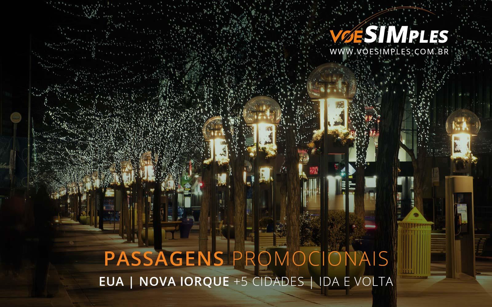 Promoção de passagens aéreas para os Estados Unidos no Natal e Ano Novo