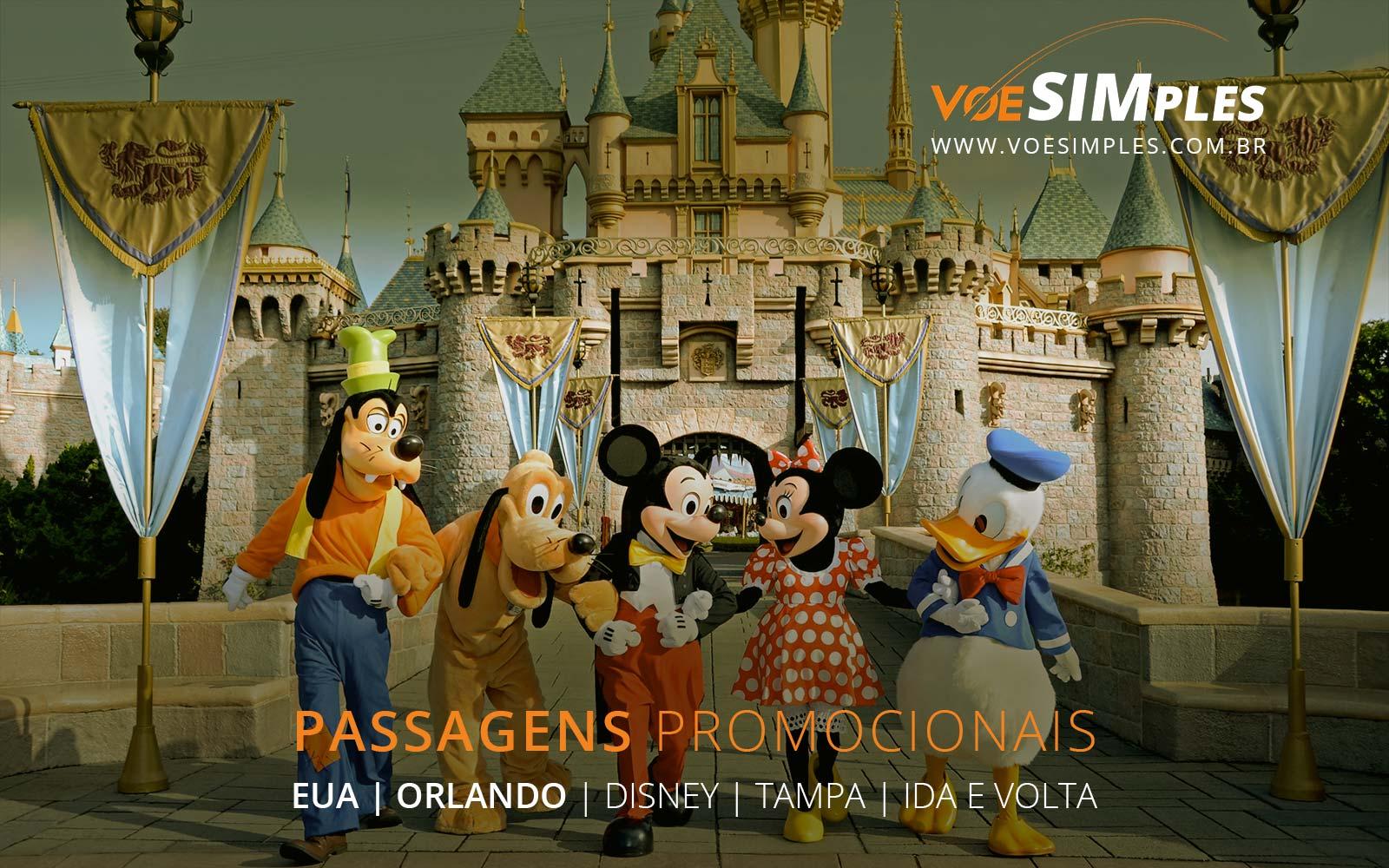 Passagens aéreas promocionais para Orlando e Tampa nos Estados Unidos