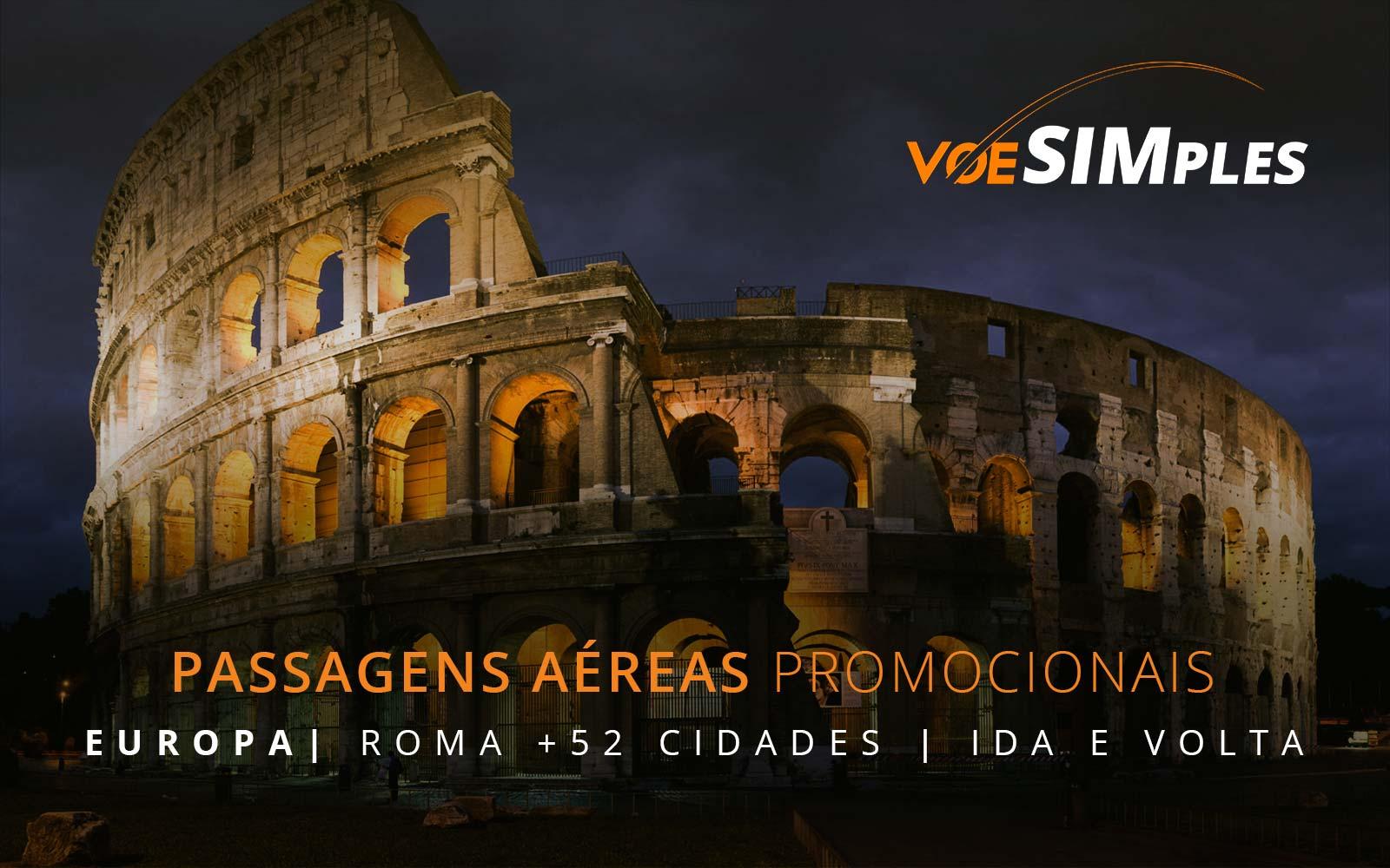 Passagens aéreas promocionais para a Europa