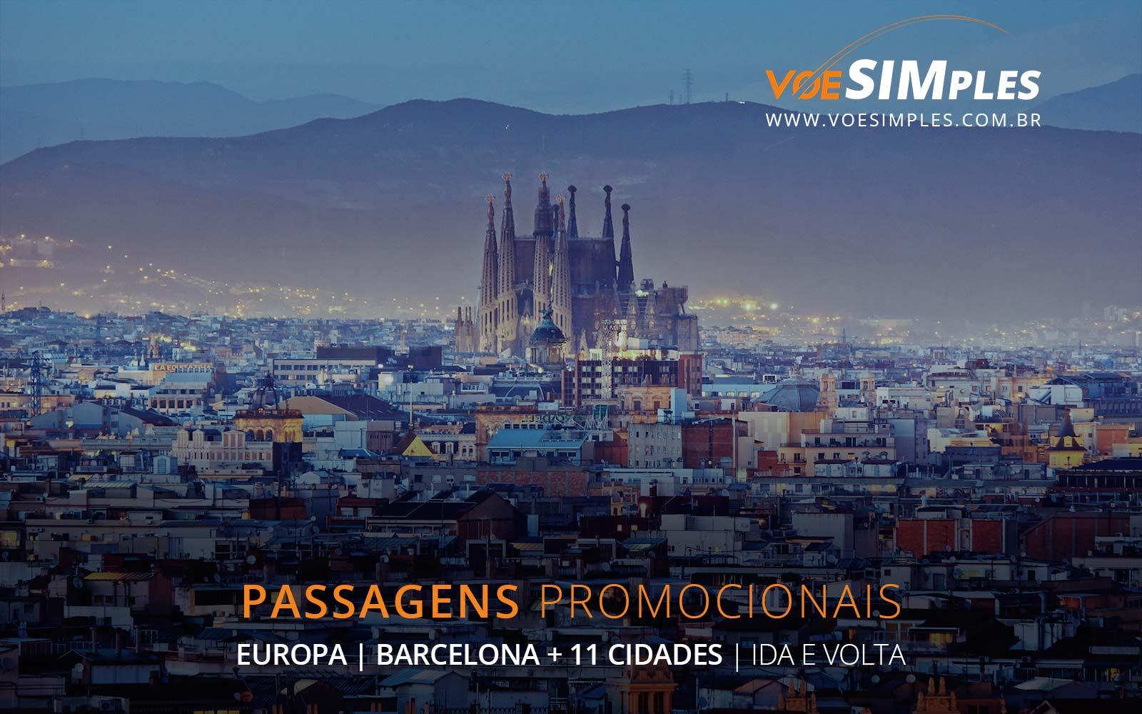 Passagens aéreas promocionais para Barcelona, Paris, Londres, Roma e Amsterdam na Europa