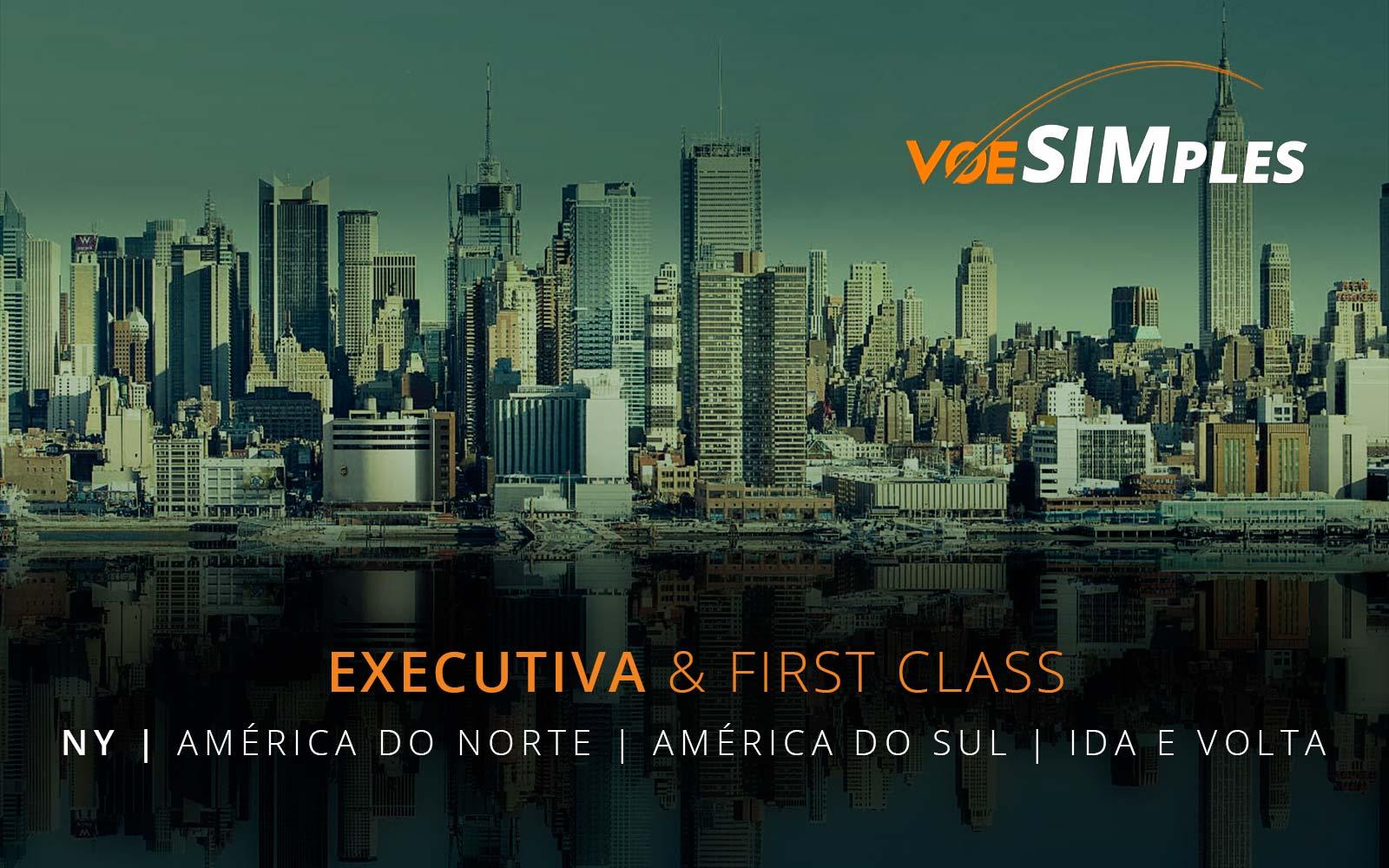 Passagens aéreas promocionais Classe Executiva para a América do Sul e Estados Unidos