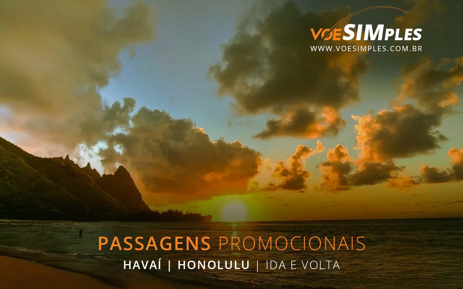 Passagens aéreas promocionais para Honolulu no Hawaii