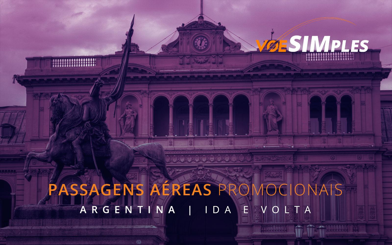 Passagens aéreas promocionais para a Argentina