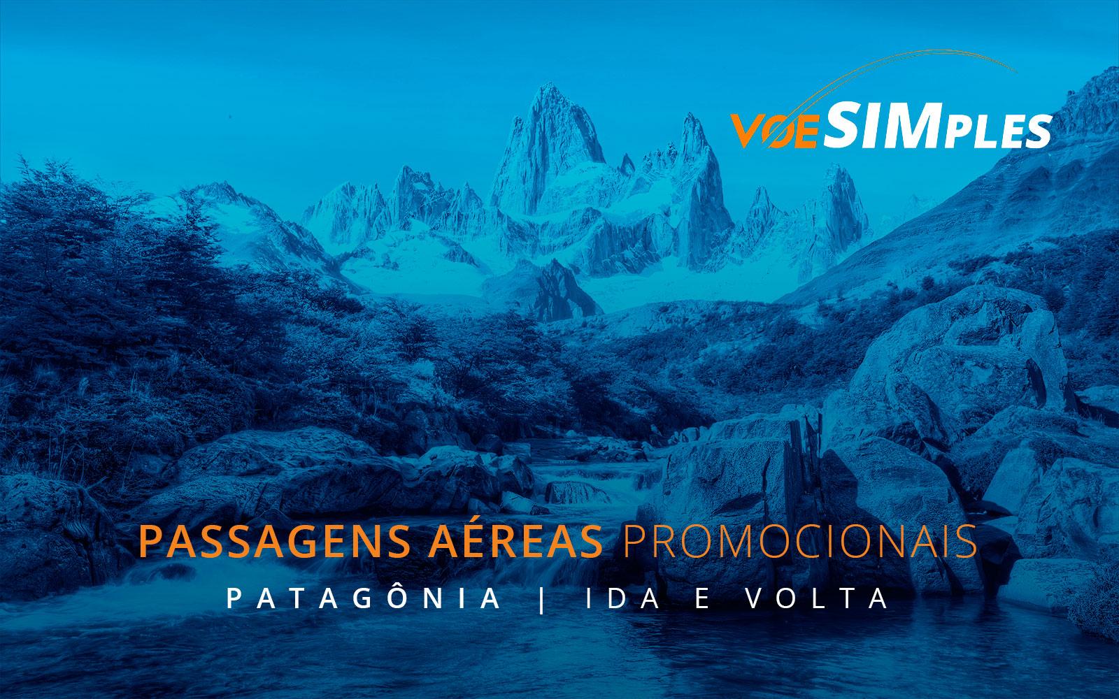 Passagens aéreas promocionais para a Patagônia