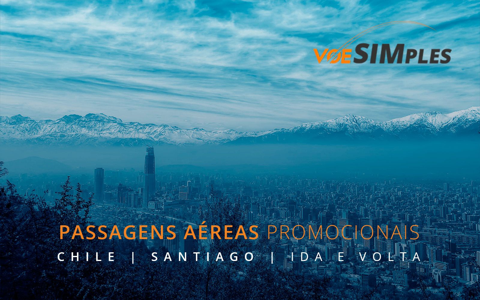 Passagens aéreas promocionais para o Chile