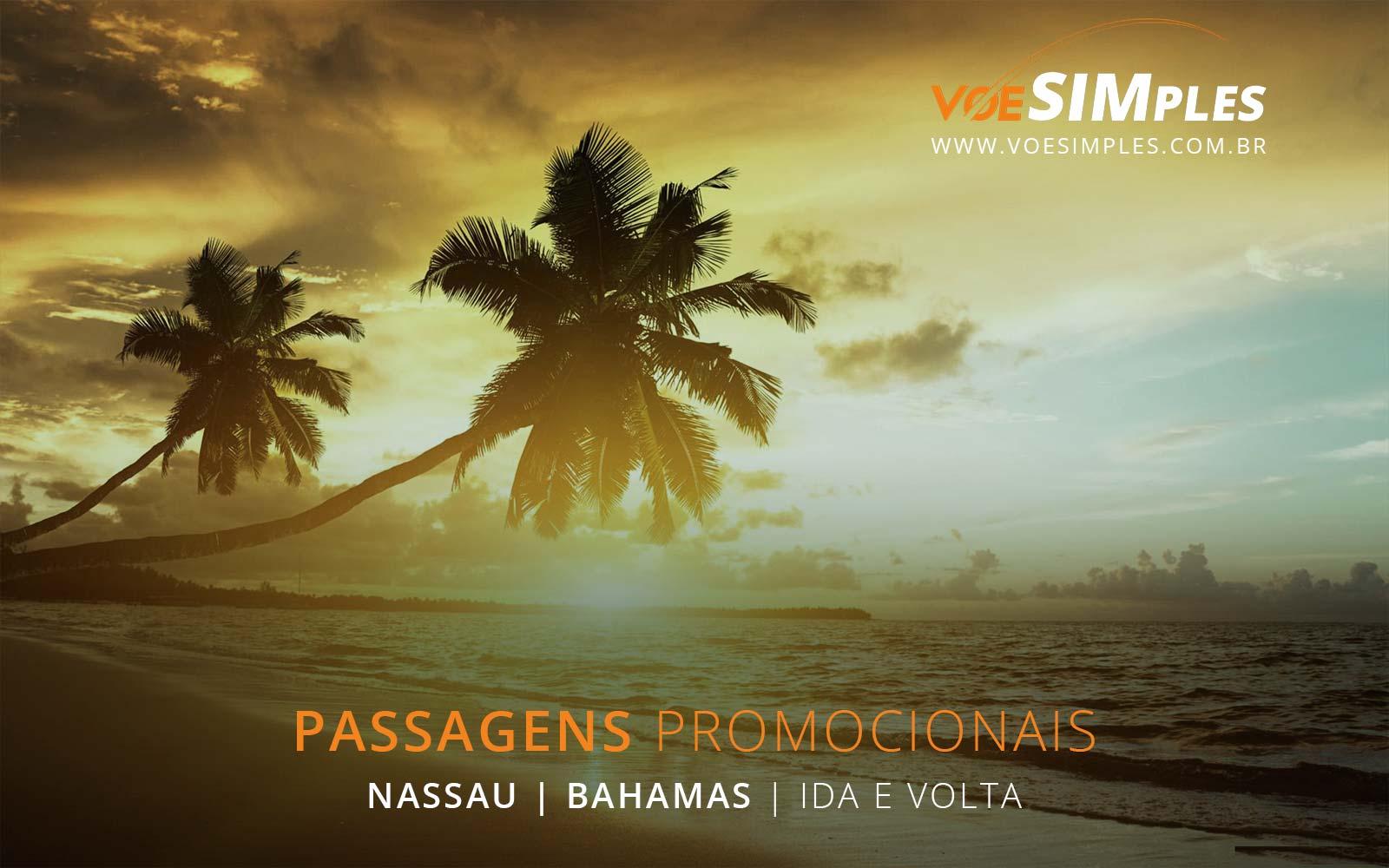 Passagens aéreas promocionais para Nassau nas Bahamas