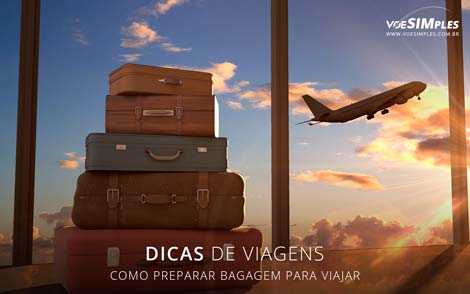 preparar bagagem para viajar