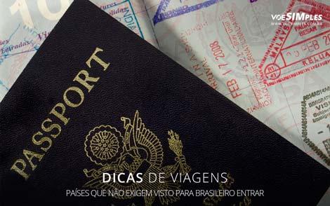 países que não exigem visto para brasileiro entrar