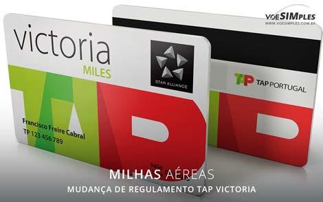 alteração do regulamento de milhas da TAP Victoria